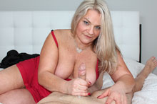 Perverted MILF Chloe milking young big cock
