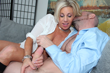 Milf Payton stroking big cock