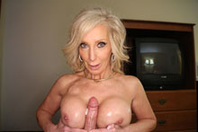 Hot milf Tiffany jerk off her step son in revenge to her husband
