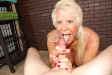 Horny milf caught her step son masturbating so she gave him handjob