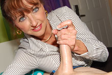 Horny step mom waking up her step son with a handjob