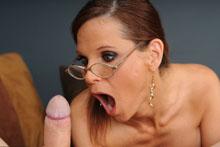 Syren Demar Cum Crazed Mom from Over40handjobs